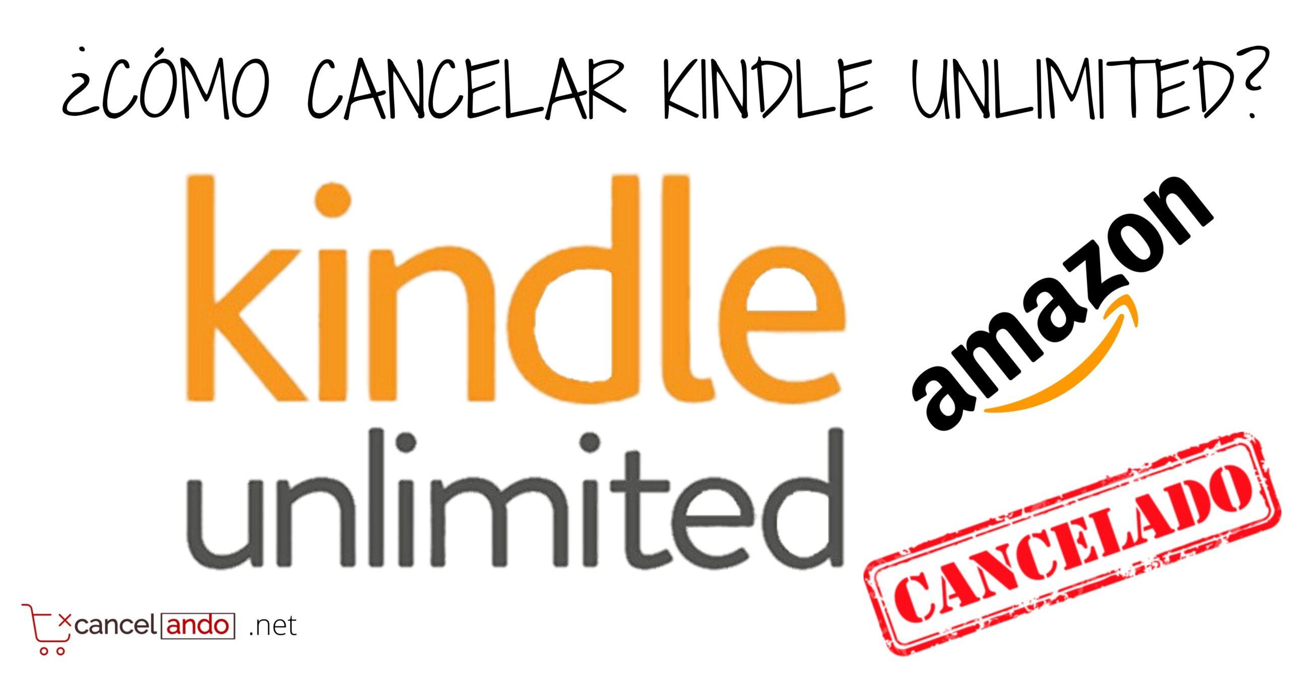 cancelar kindle unlimited