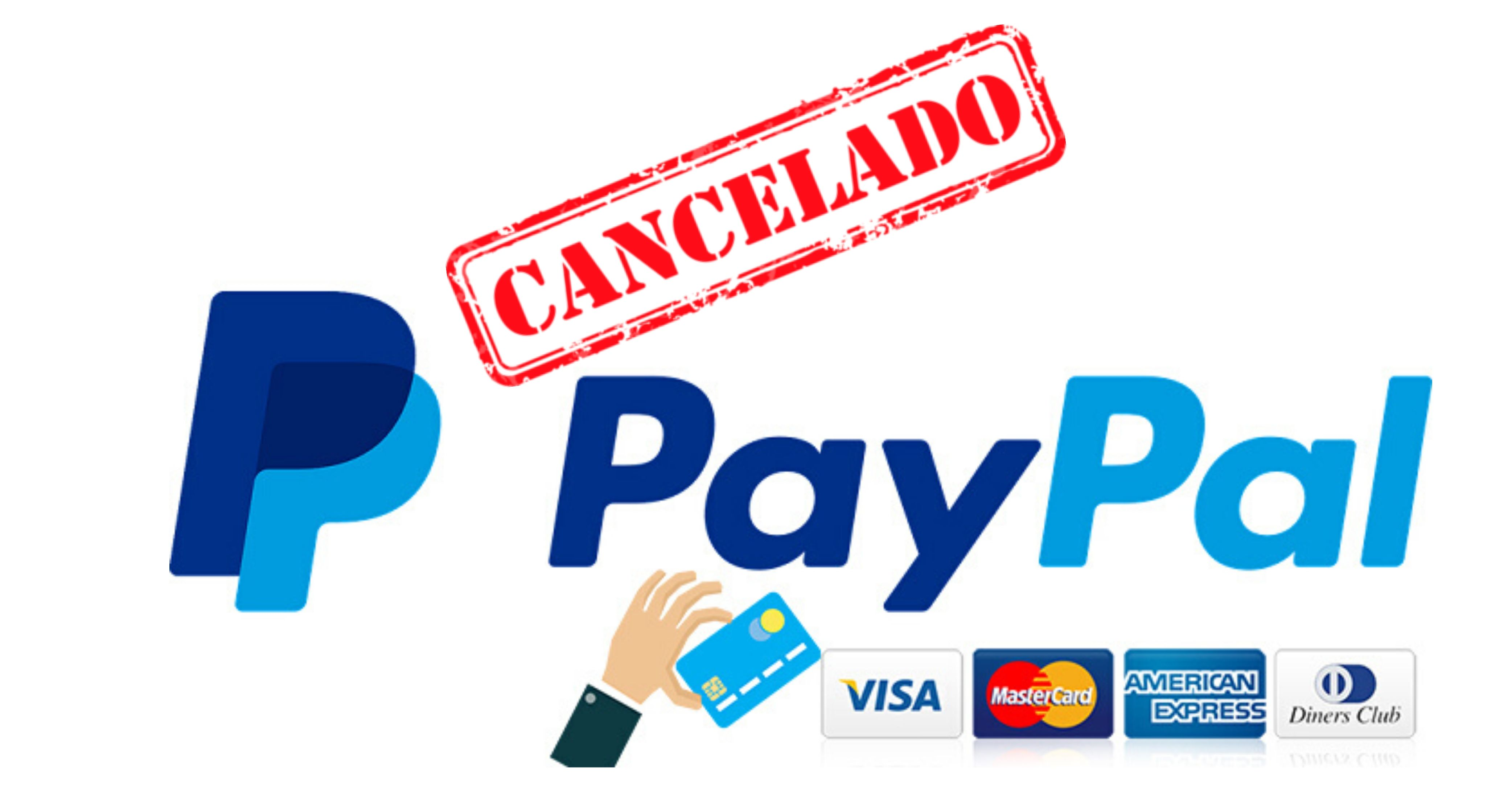 cancelar pago paypal