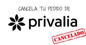 cancelar pedido privalia