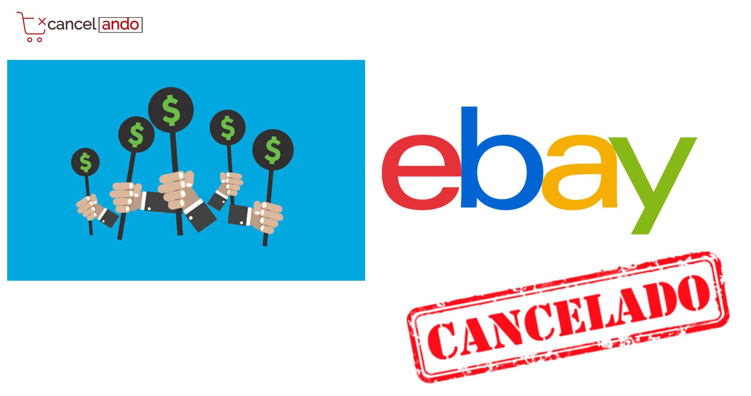 cancelar puja ebay