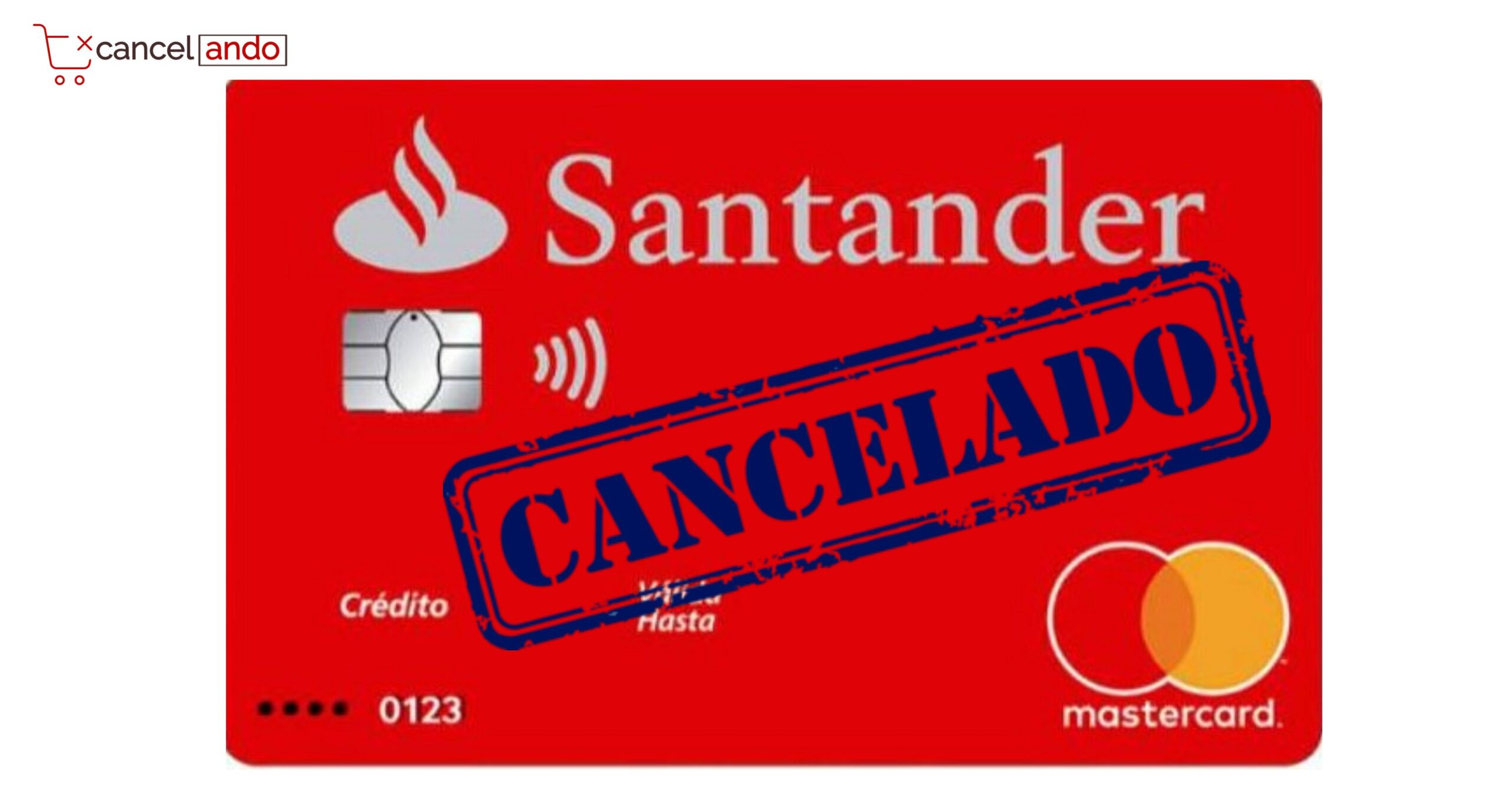 cancelar tarjeta santander