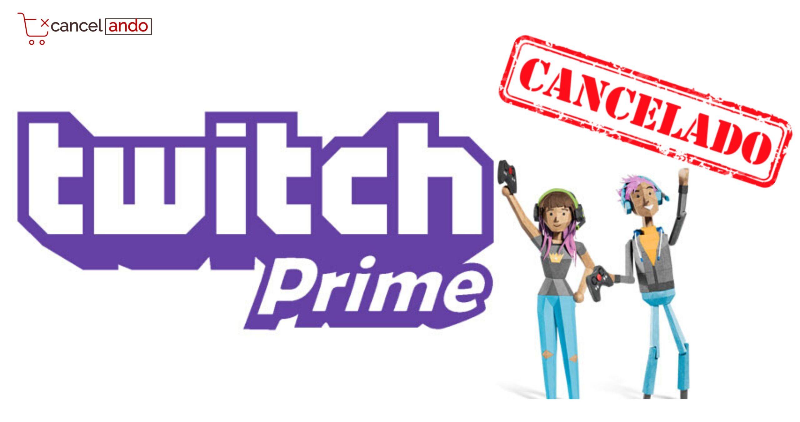 cancelar twitch prime