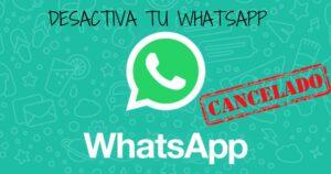 dar de baja whatsapp